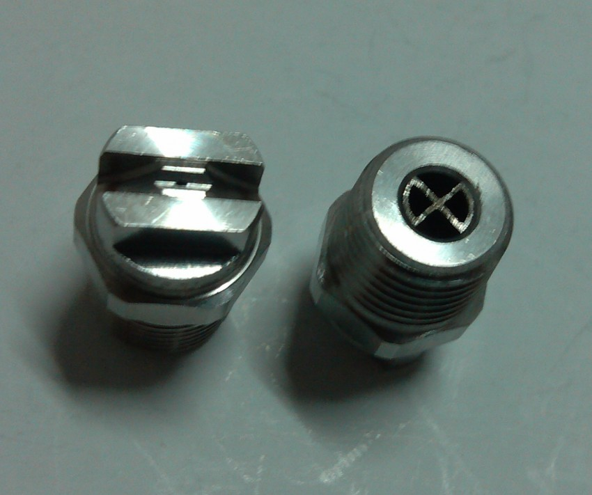 High pressure flat fan wash nozzle meg eternal spray