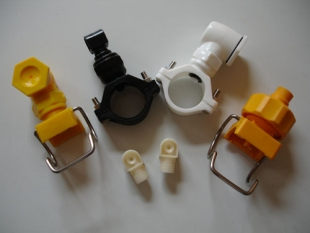 plastic water spray nozzle with split eyelet connector