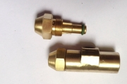 Hollow cone fine oil/water siphon atomizing nozzle